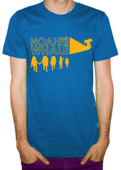 Noah and the Whale tshirts - blue